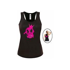 Női trikó (fekete) - gázálarc logó